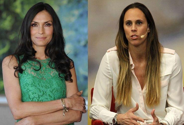 ¿Miden lo mismo Famke Janssen y Amaya Valdemoro?