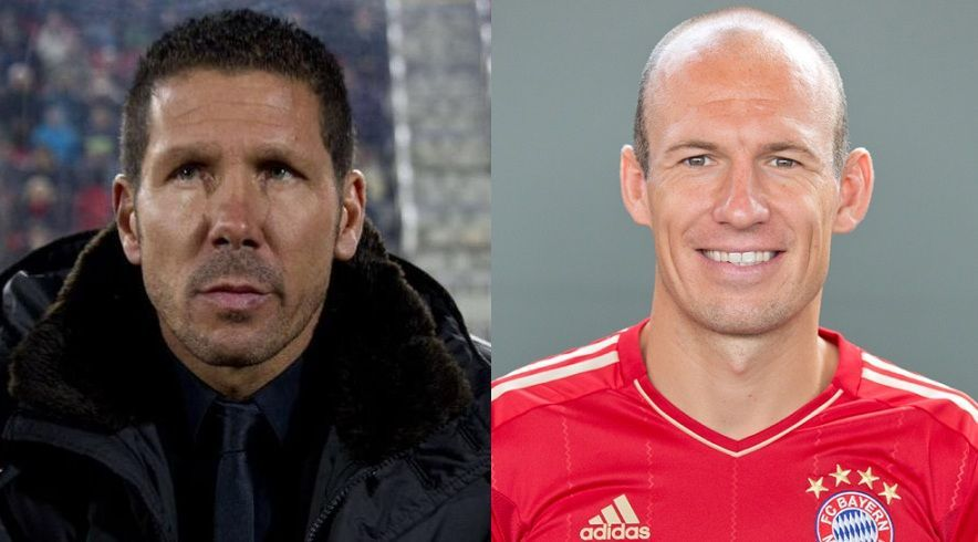 ¿Miden lo mismo Diego Simeone y Arjen Robben?