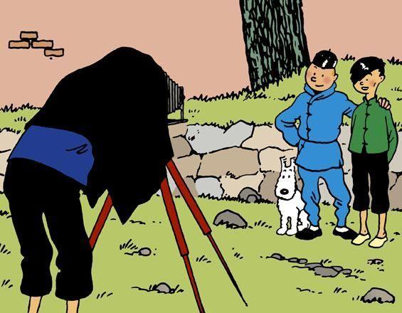 ¿En qué lugar rescata Tintín a Tchang cuando éste tiene un accidente de avión?