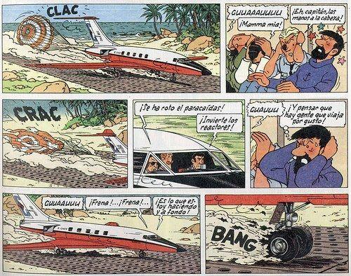 Número del avión en el que Tintín y sus amigos viajan a Sidney