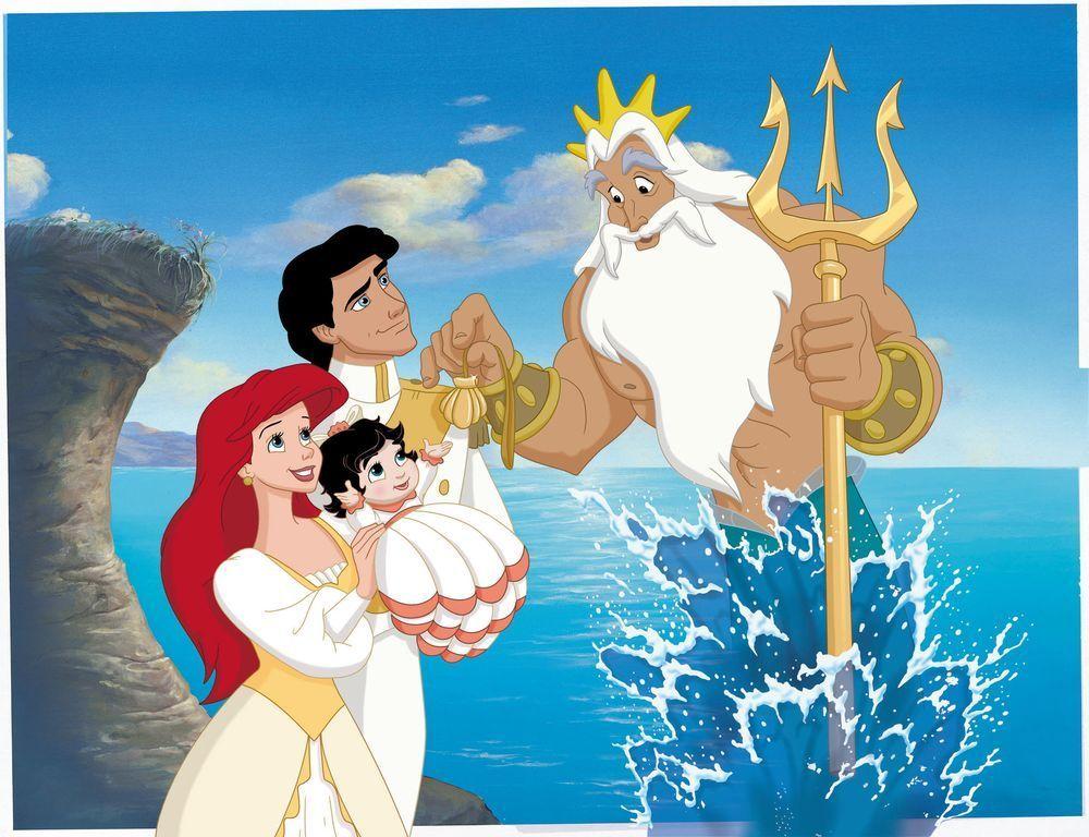 En la Sirenita 2, ¿Qué Ariel a su hija Melody?