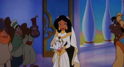 En Aladdin 3, ¿Porque es interrumpida la boda de Jasmín y Aladdin?