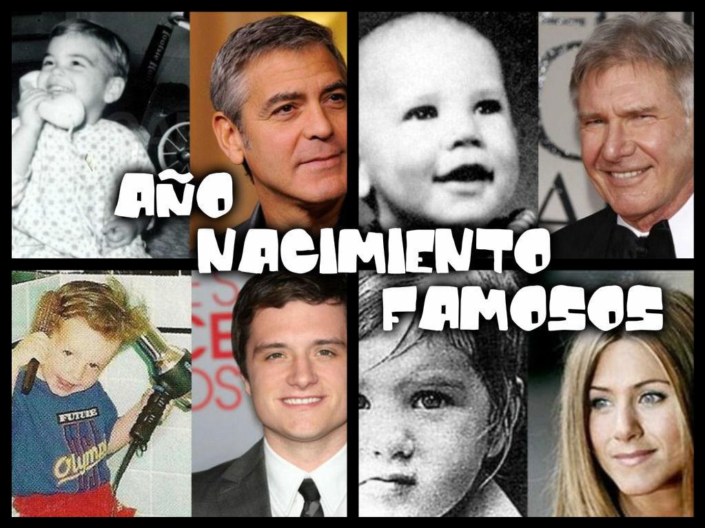 11390 - ¿En qué año nacieron estos famosos?