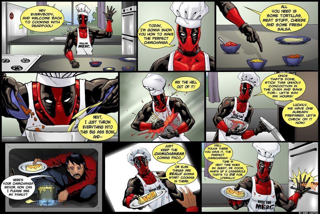 ¿Qué es lo que mas le gusta a Deadpool por la mañana?