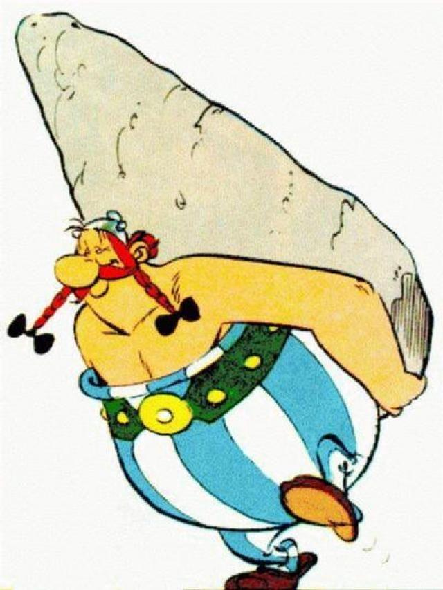¿Cómo adquirió Obelix  su fuerza , ¿esto cambió su personalidad?