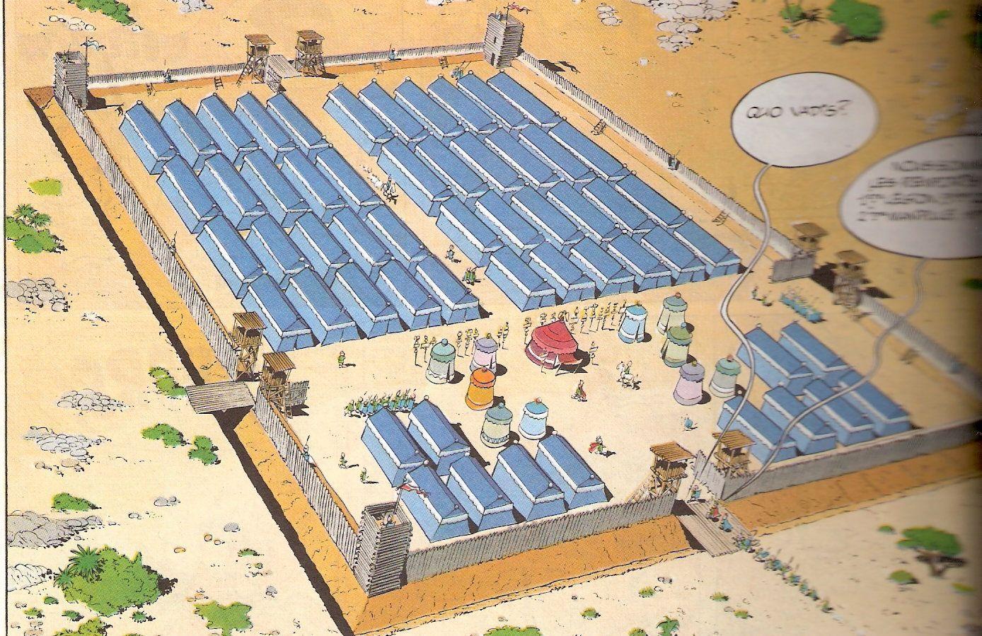 ¿Cuál de estos no era un campamento romano que rodeaba la aldea gala?