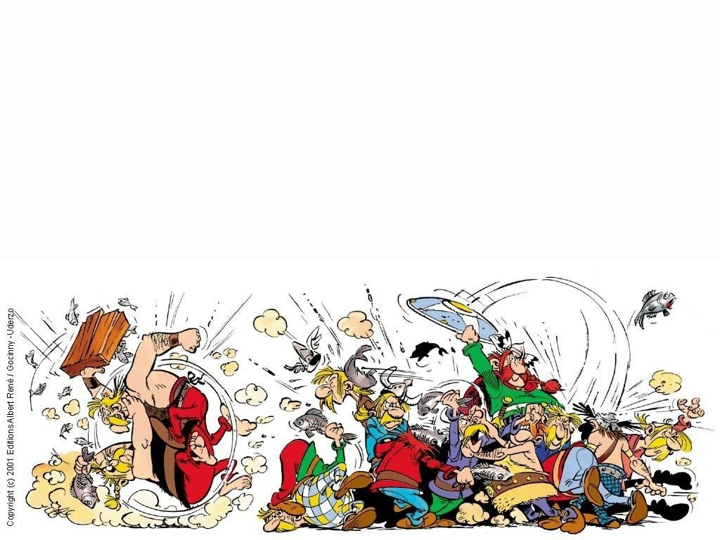 En el pueblecito de Asterix siempre hay peleas, ¿pero la gran mayoría por qué se originan?