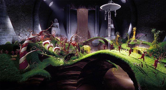 Si te invitasen a la fábrica de chocolate del señor Wonka, ¿qué visitarías primero?