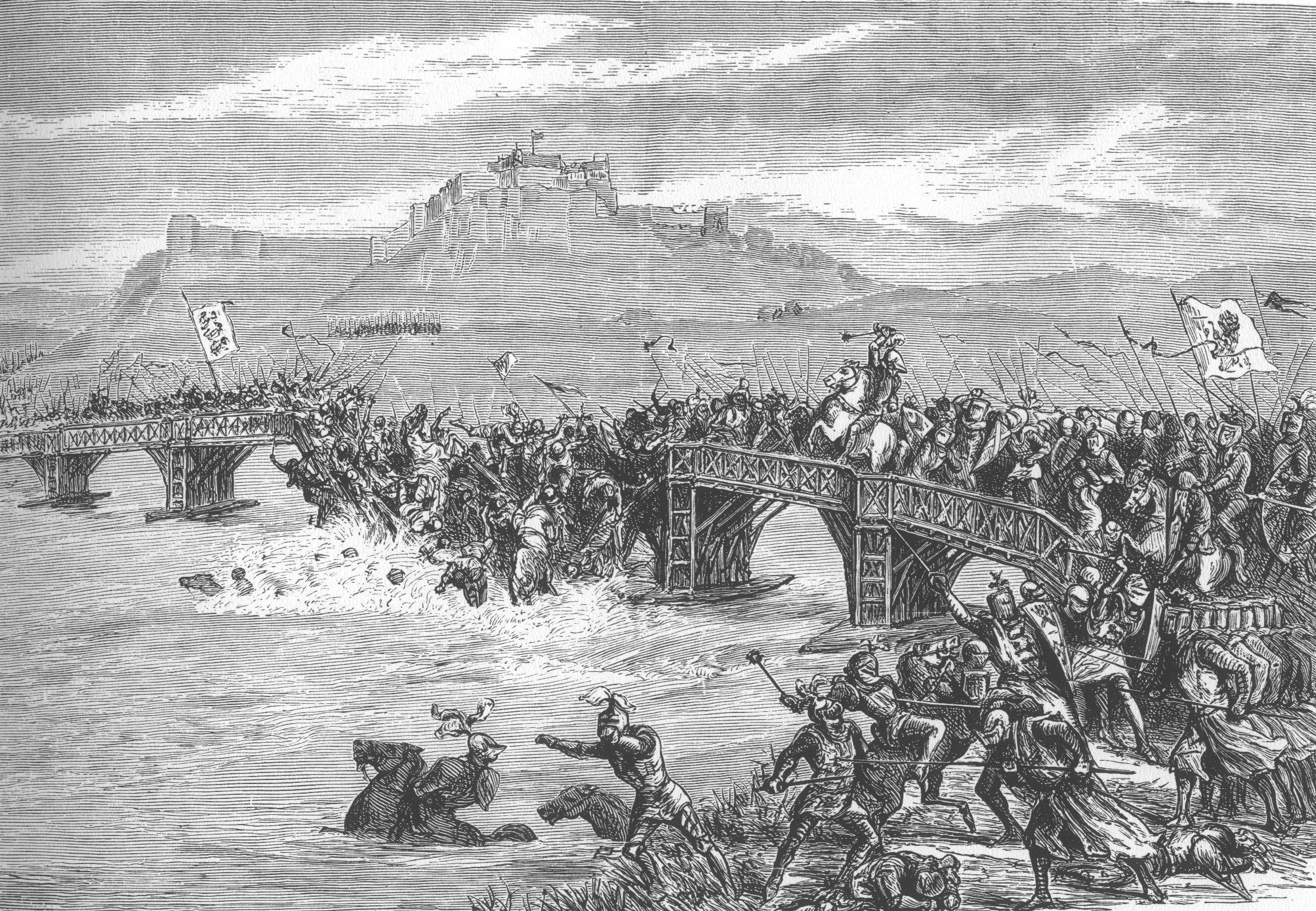 ¿Contra quién se enfrentó Inglaterra en la Batalla del Puente de Stirling?