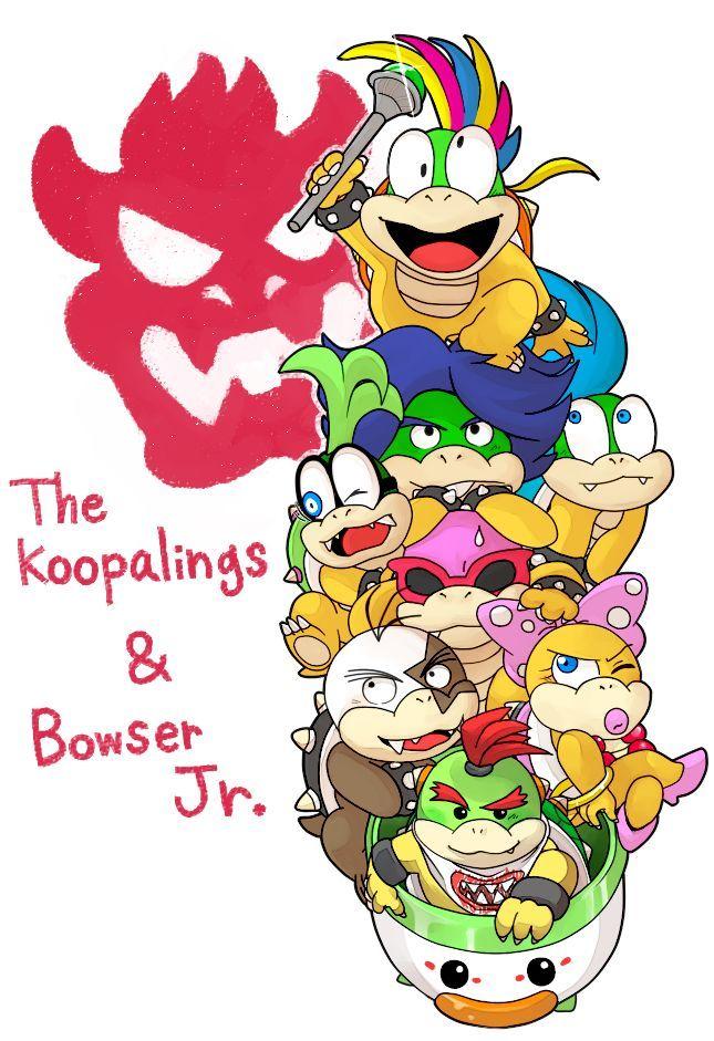 En las peleas contra los Koopalings en Paper Jam Bros ¿cómo van emparejados estos?