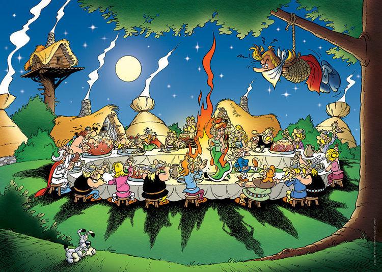 ¿En qué comic Asterix y Obelix no celebran el banquete en la aldea?