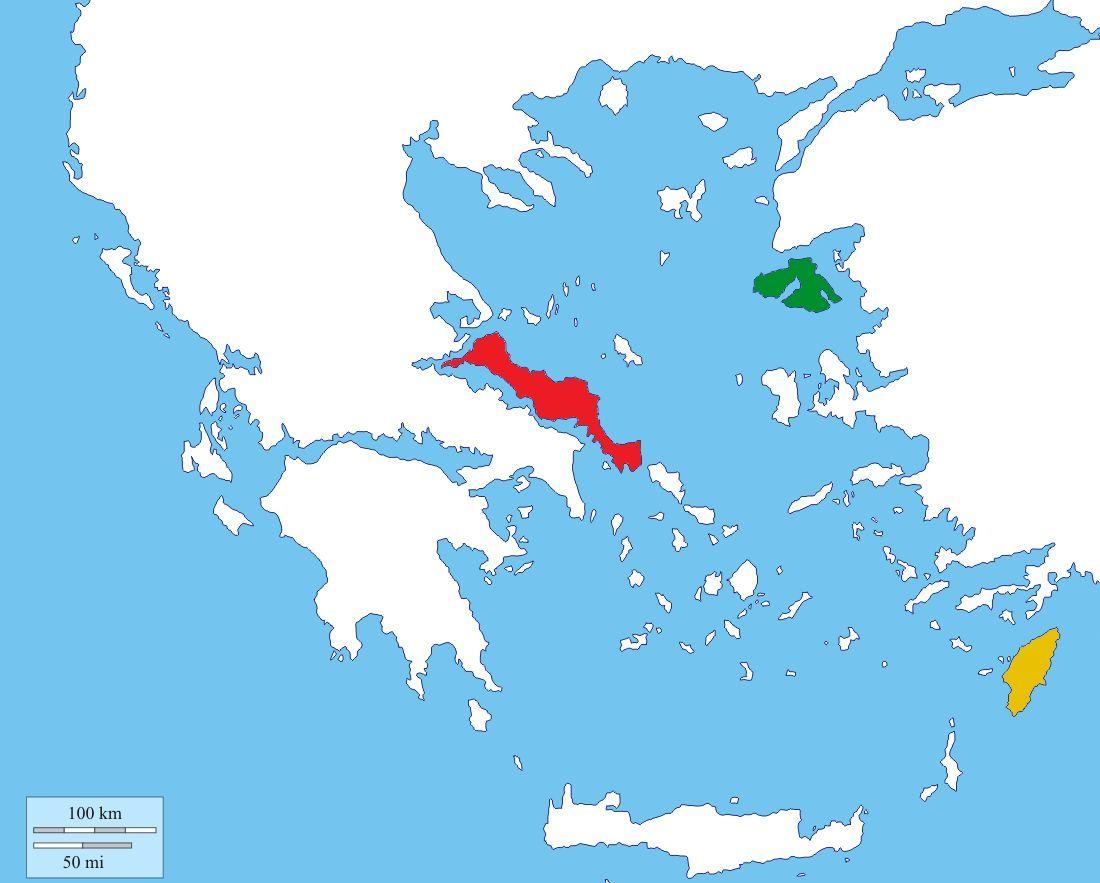 ¡Más islas! Mira el mapa adjunto e identifica las islas coloreadas: