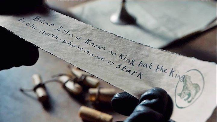 El Norte y la casa Stark van de la mano. Eso se lo hace saber al Rey Stannis cierta niña... ¿Cómo se llama?