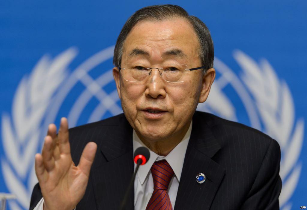 Abarquemos un plano diferente. Esta vez con Ban Ki-moon, Secretario General de la Organización de las Naciones Unidas.