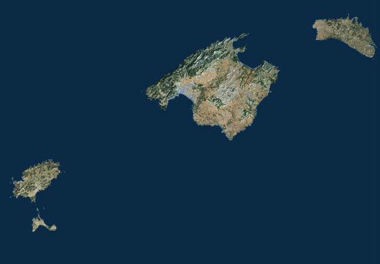 Mallorca es la isla más grande ¿cuál es el orden de mayor a menor de las demás?