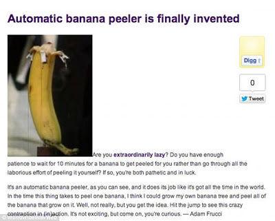 Pelador de plátanos automático.