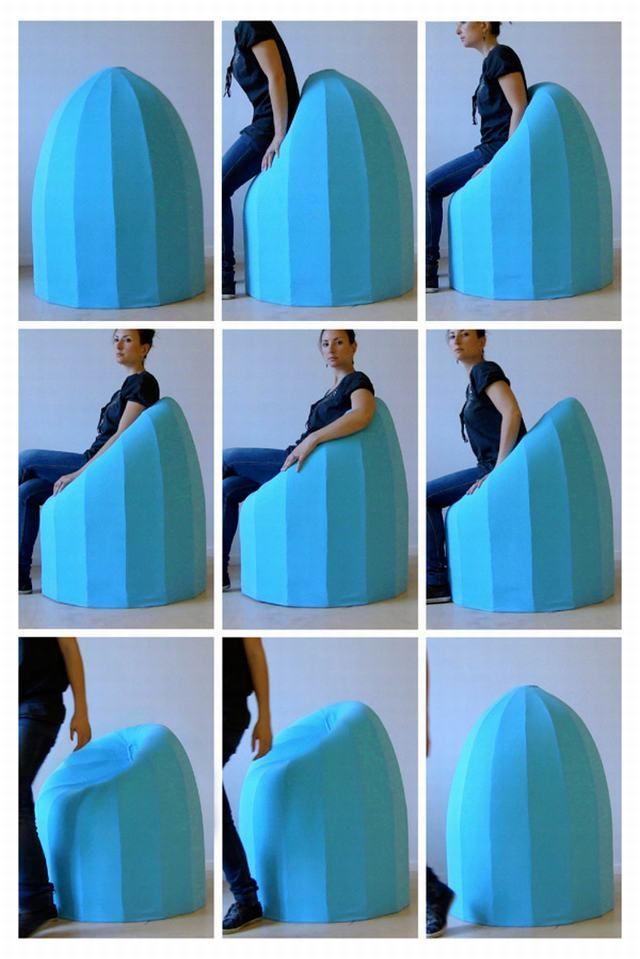 Un sillón con memoria, que te ahorrará todo el tiempo que lleva moldear tus huecos.