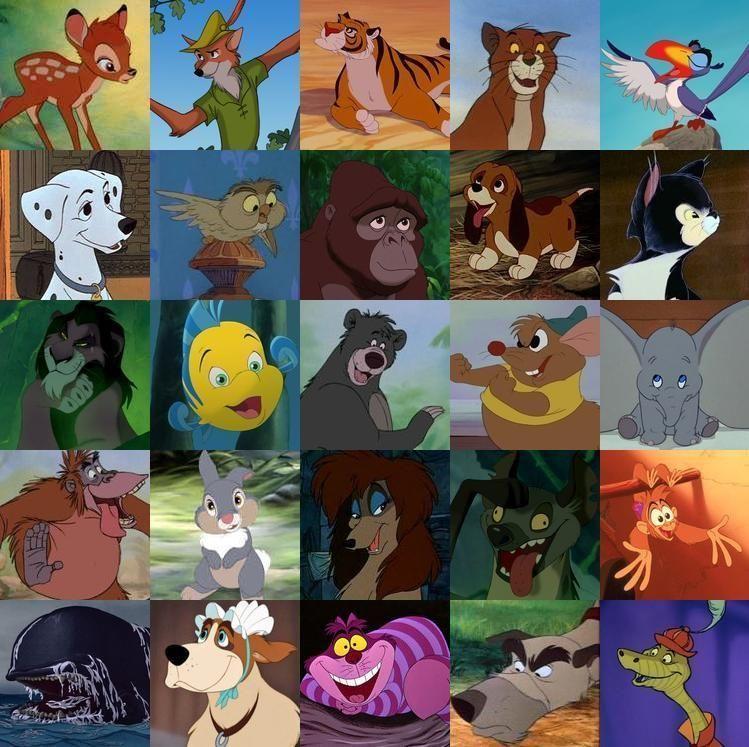 12725 - ¿Sabes a qué película de Disney pertenece cada animal?