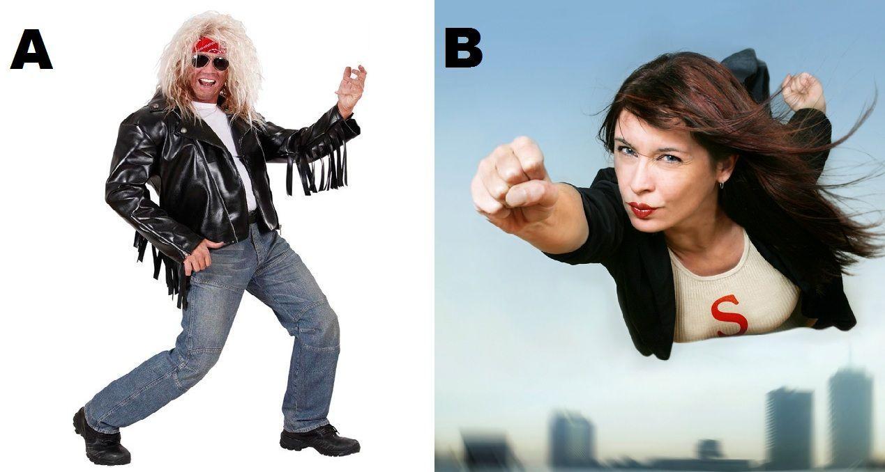 ¿En ser una famosa estrella del rock o en un súper héroe/heroína que ayuda a combatir el mal?