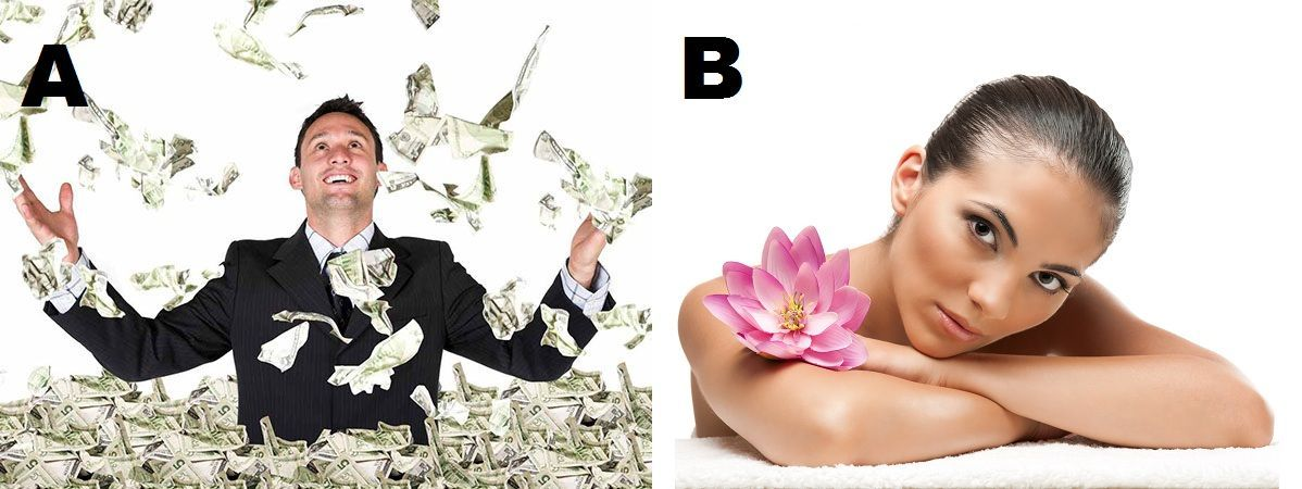¿En tener todo el dinero del mundo o en ser la persona más bella de todas que nunca envejece a pesar del tiempo que pase?