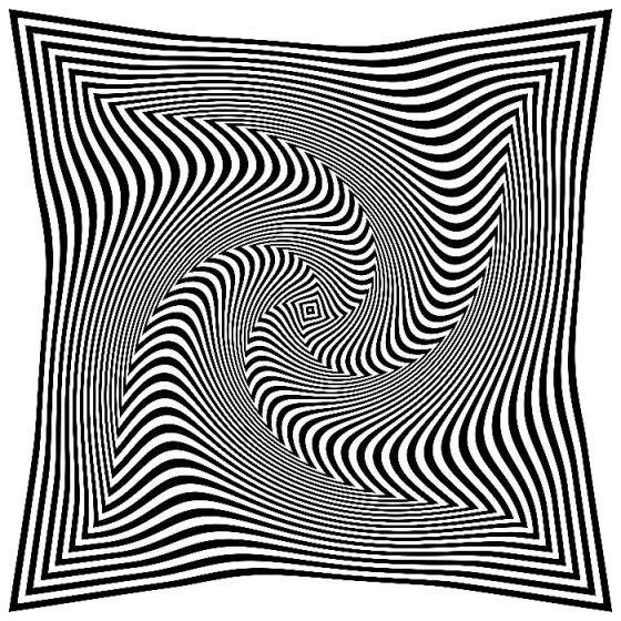 Mira fijamente el centro de la siguiente imagen y marca lo que te hizo sentir:
