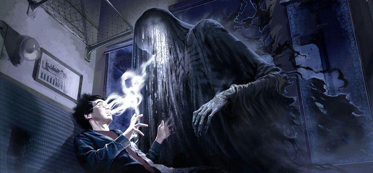 ¿ Quiénes estaban en el compartimiento con Harry cuando el Dementor llegó al tren?