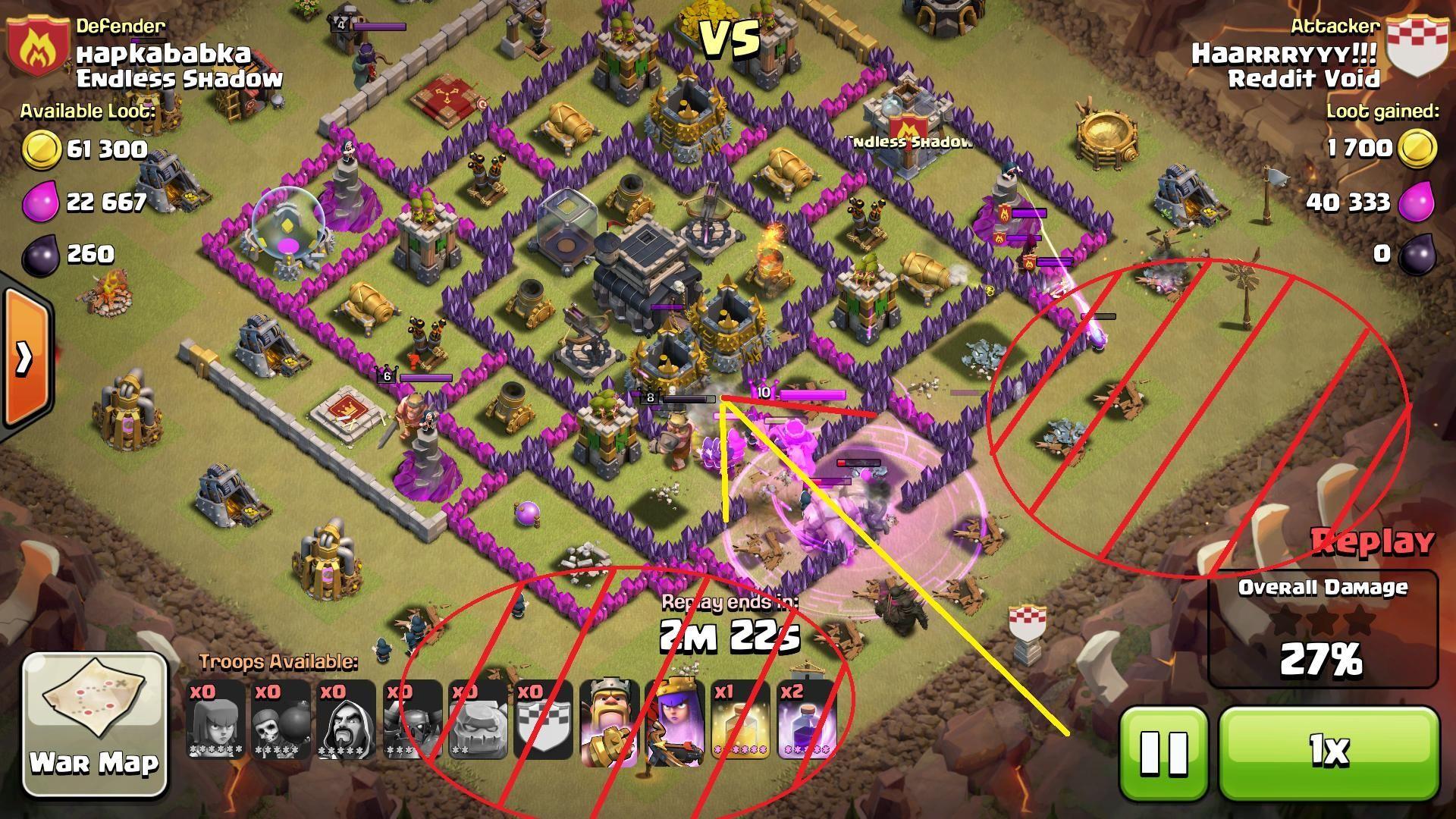 ¿Cómo se denomina la estrategia de ataque consistente el utilizar golems, magos, y pekkas?