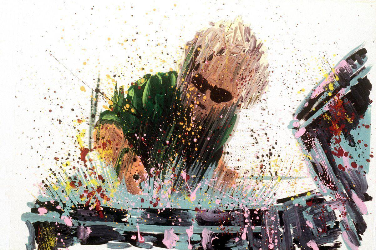 ¿Con el estilo de qué artista aparece dibujado Deacon en el videoclip de la canción Innuendo?