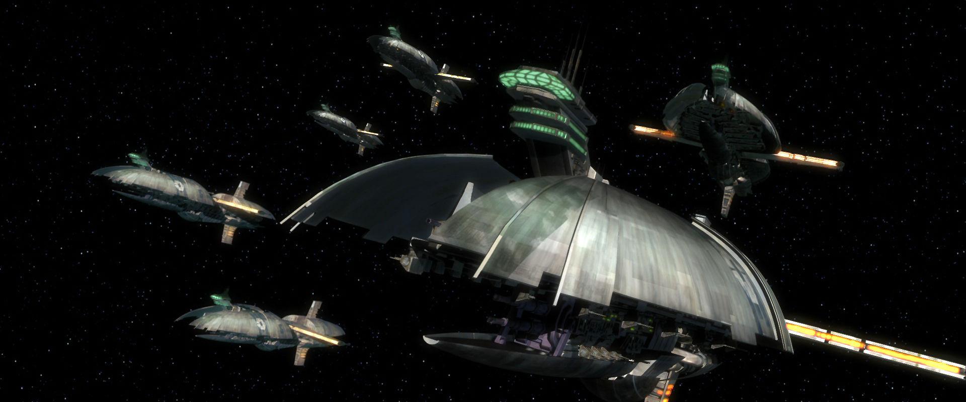 ¿Cuál de estas naves no forma parte de la flota de la Confederación de Sistemas Independientes?