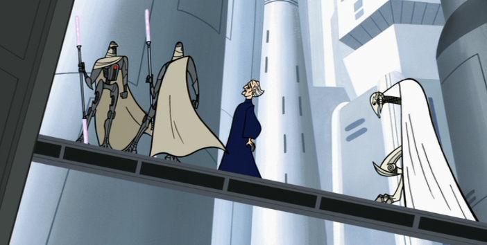 ¿Qué Maestra Jedi fue la encargada de proteger al Canciller Supremo para que no lo secuestrase Grievous?