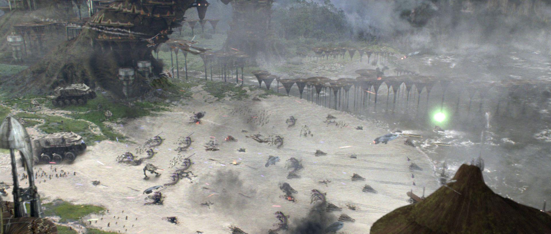 Al mismo tiempo, en Kashyyyk, un gran batalla se libra. Yoda no es el única Jedi en la batalla.¿Qué otros maestros/a participan?