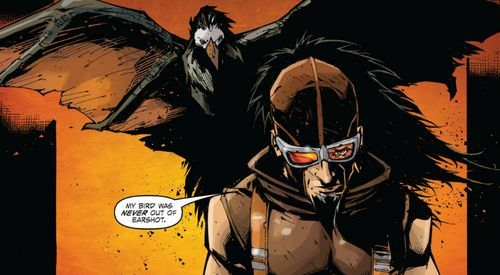 ¿Cómo se llama el pájaro de Mordecai?