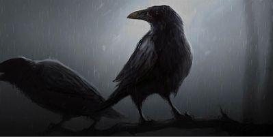 ¿Cómo se llaman los dos cuervos que se posan sobre el hombro de Odín?