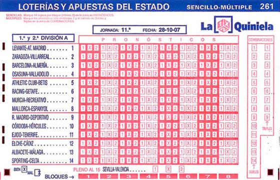 13166 - Quiniela liga BBVA Jornada 26