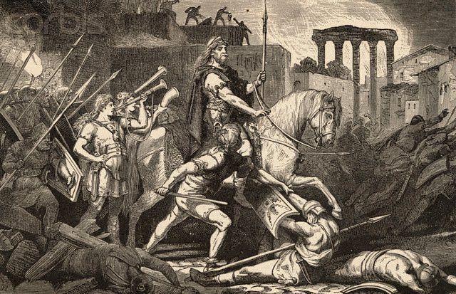 ¿En qué año se produce el saqueo de Roma por parte de los visigodos?