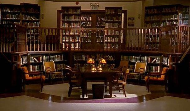 ¿Dónde se veía esta biblioteca?