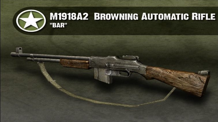 ¿De donde consigue Hartsock su B.A.R (Browning Automatic Rifle)?