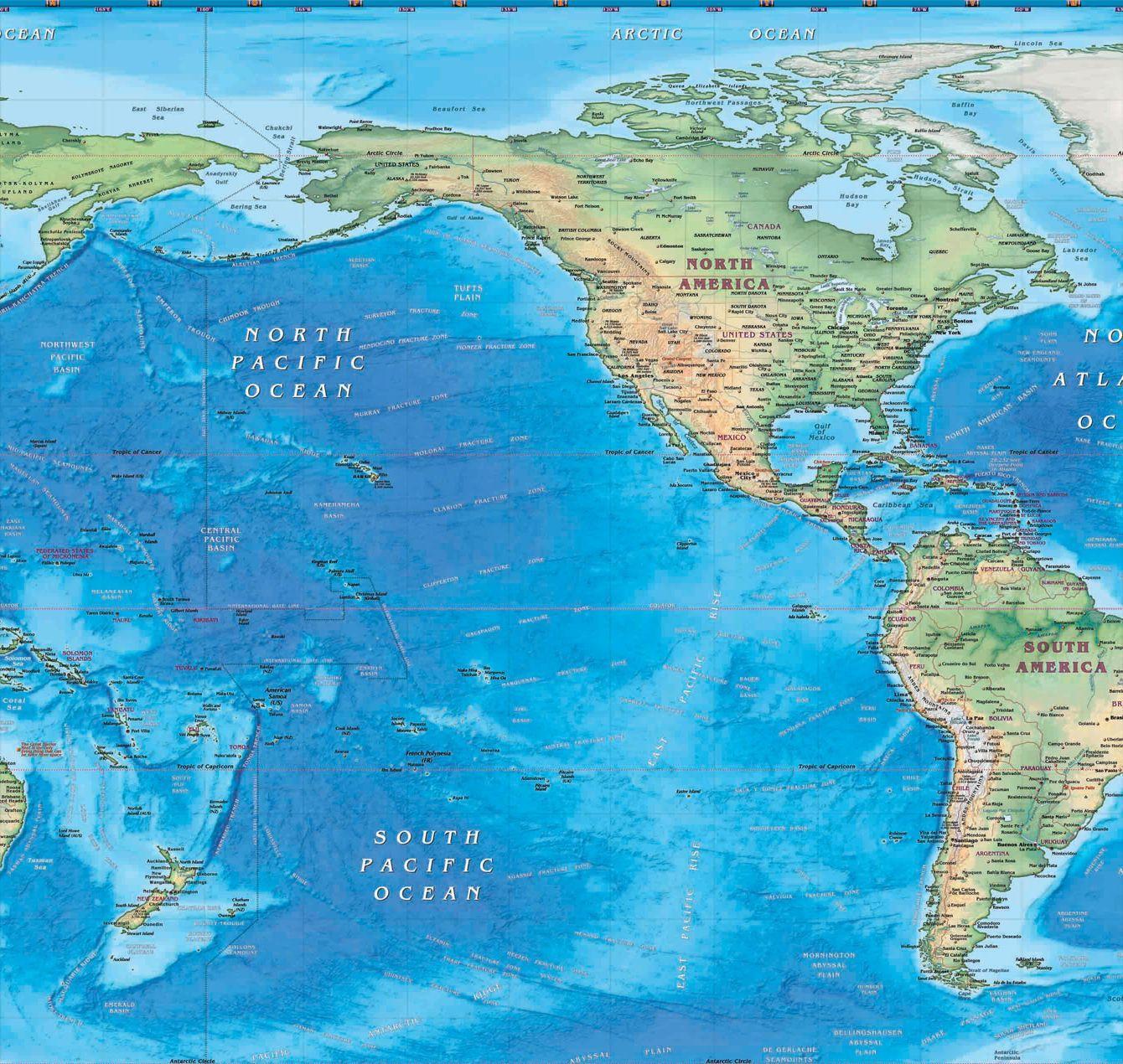 Y aparte de los Estados Unidos, ¿qué otro país americano tiene territorios que forman parte de Oceanía?