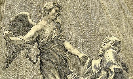 En la novela, Langdon define el ángel del Éxtasis de Santa Teresa. ¿De qué tipo de ángel se trata?