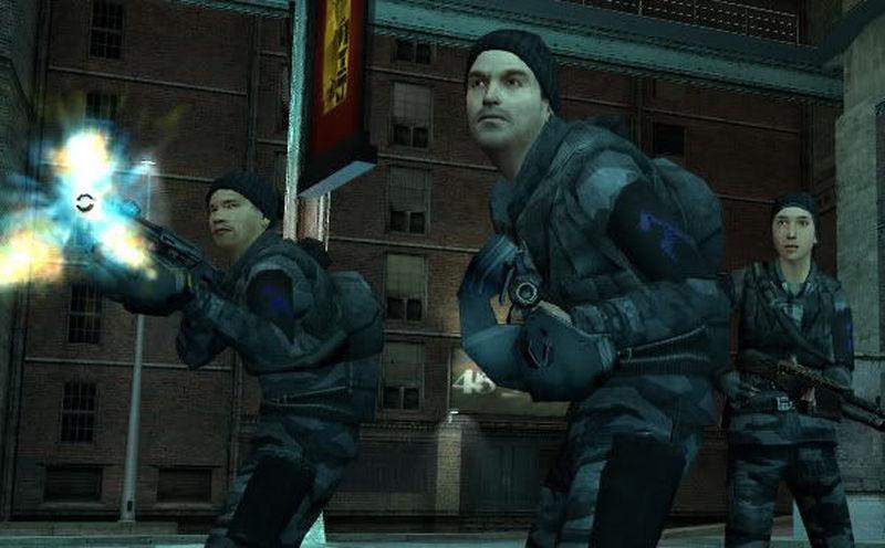 Ya habéis hackeado el sistema y la alarma rápidamente salta por toda la ciudad. Cojéis una bolsa llena de armas y os váis