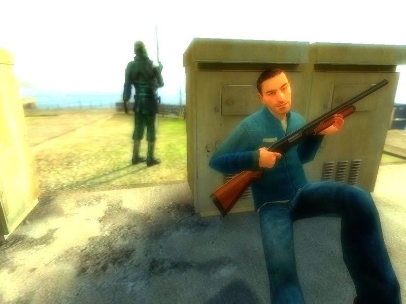 Tu compañero mete la bolsa de armas en una alcantarilla para que la recojan pero le pegan un disparo y le matan