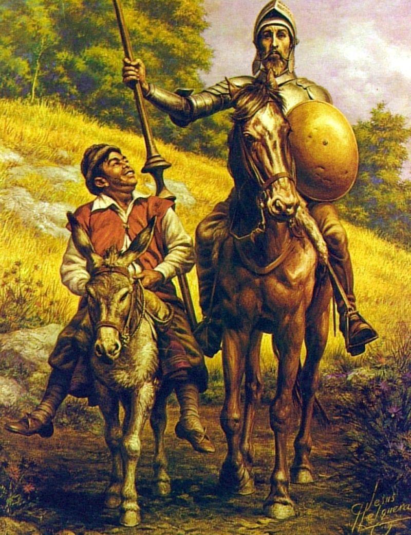 ¿Qué famosa obra narra las aventuras de D.Quijote y Sancho Panza?