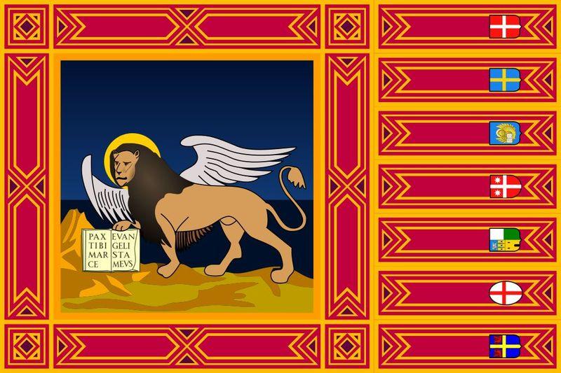 No podríamos irnos sin una pregunta sobre banderas: ¿A qué región italiana pertenece la que aparece a continuación?