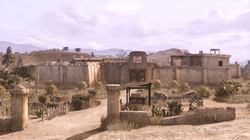 Con el comisario y sus ayudantes encontráis a los bandidos camino de Fort Mercer...