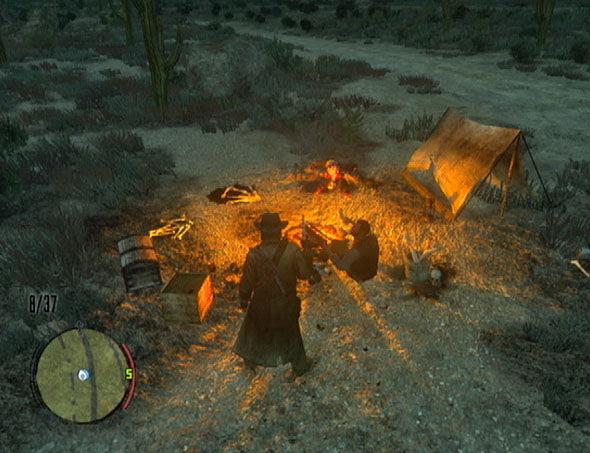 Se hace de noche y alguien con un campamento con restos humanos te invita a pasar la noche...