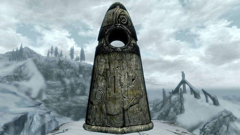 Al principio del juego se te enseñan 3 de los menhires de Skyrim ¿Cuáles son?