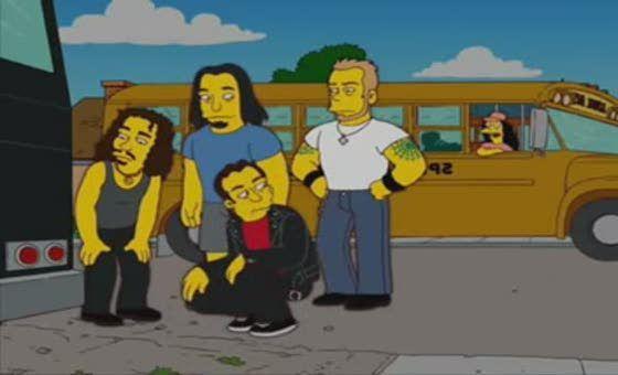 ¿Quién lleva a Metallica después de que se pinchara una rueda de su autobús?