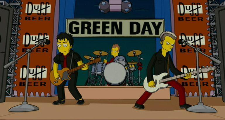 ¿Qué canción está interpretando Green Day?