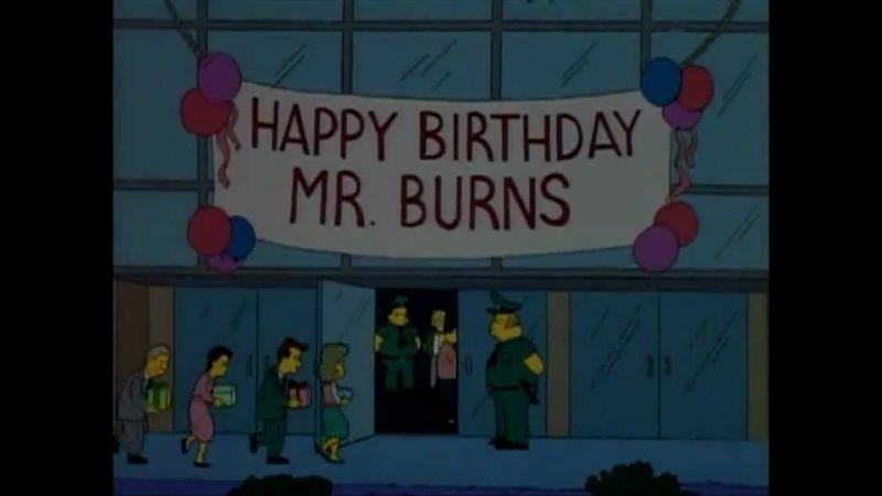 ¿Qué grupo actúa en el cumpleaños del señor Burns?