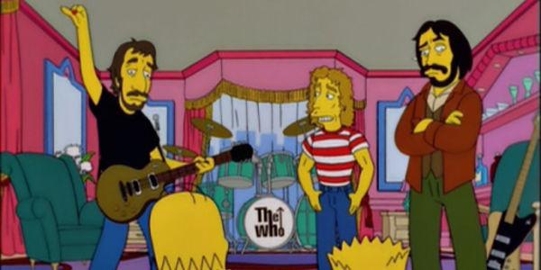 ¿Qué hacen The Who al final del episodio en el que aparecen?